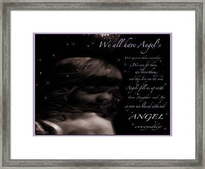 We All Have Angels Framed Print by Debra     Vatalaro