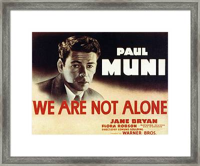 We Are Not Alone, Paul Muni, 1939 Framed Print by Everett