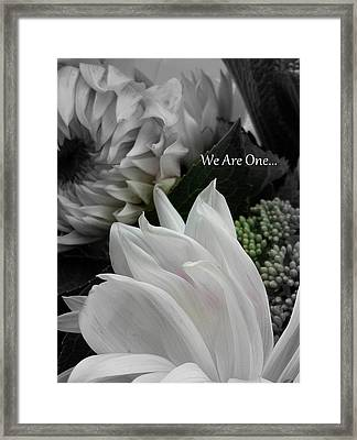 We Are One Framed Print by Sian Lindemann