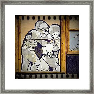 We Are The 99% #graffiti #clubsocial Framed Print