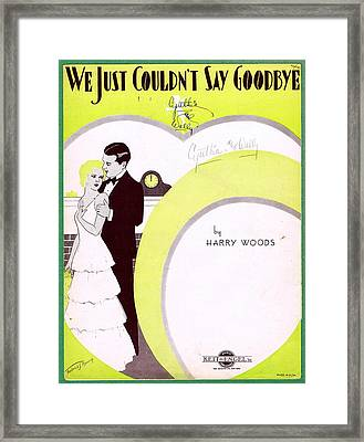 We Just Couldn't Say Goodbye Framed Print by Mel Thompson
