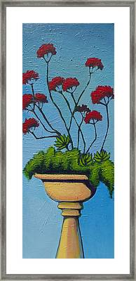 We Lift Our Hands Framed Print by Erica Shaw