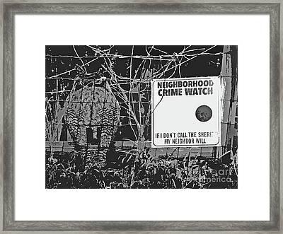 We Never Sleep Framed Print by Joe Jake Pratt