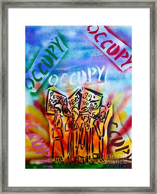 We Occupy Framed Print by Tony B Conscious
