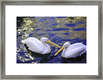 We Share A Heart Framed Print by DiDi Higginbotham