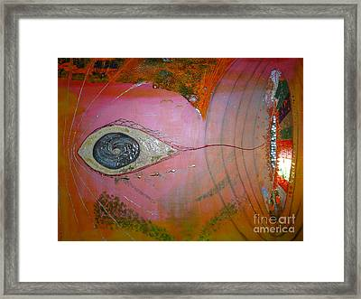 We Timetravellers In Disposable Space Suits Framed Print by Matt Gregor
