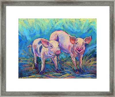 We Won't Be Bacon Framed Print by Li Newton