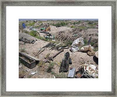 Weapons Caches Framed Print by Stocktrek Images
