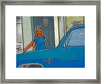 Wearing The City Framed Print by Lenore Senior