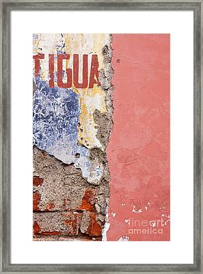Weathered And Cracked Wall Framed Print by Jeremy Woodhouse
