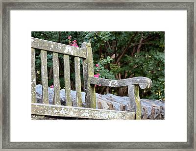Weathered Bench Framed Print