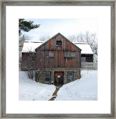 Weathered Building At Old Sturbridge Village Framed Print by John Small