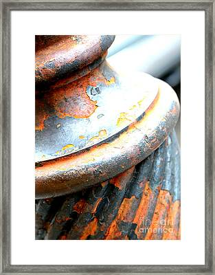 Weathered Column  Framed Print by Carol Groenen
