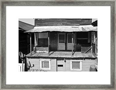 Weathered Home With Satellite Dish Framed Print
