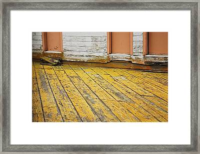 Weathered Monterey Building Framed Print