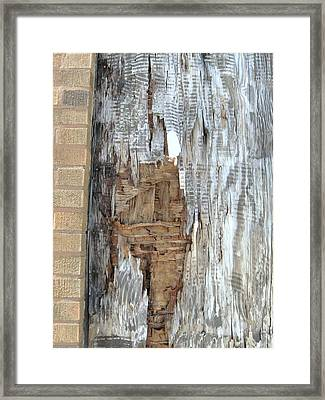 Weathered Mosiac Framed Print by Todd Sherlock