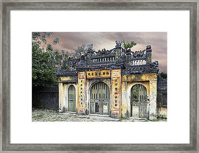 Weathered Oriental Gateway Framed Print by Skip Nall
