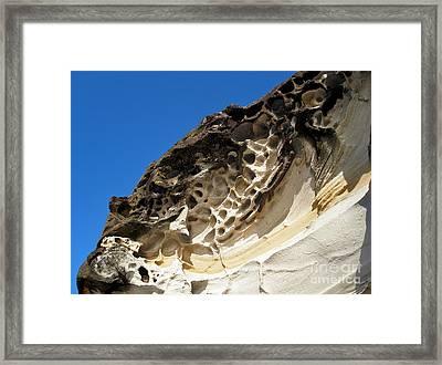 Weathered Sandstone Framed Print by Kaye Menner