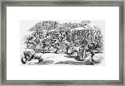 Weaverville Tong War, 1854 Framed Print