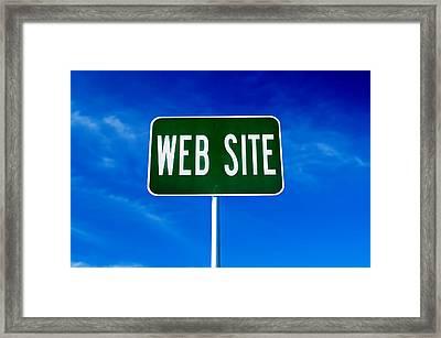 Web Site Sign Framed Print
