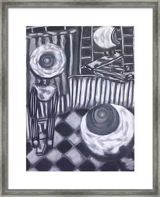 Webcam Frenzy Framed Print by Cecelia Taylor-Hunt