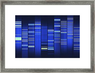 Website Source Code Visualisation Framed Print