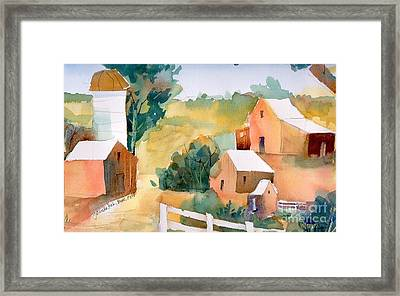 Framed Print featuring the painting Webster Barn by Yolanda Koh