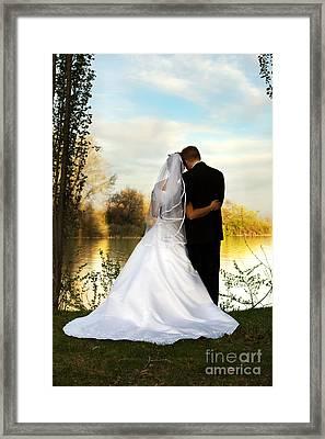 Wedding Couple Framed Print by Cindy Singleton