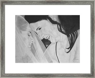 Wedding - Daughter And Mother Blessing Framed Print by Miguel Rodriguez