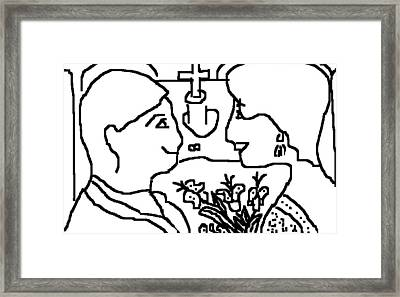 Wedding Day Framed Print by Anita Dale Livaditis