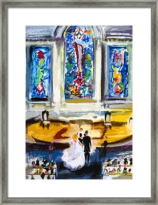Wedding Day At Second Presbyterian Church Charleston Sc Framed Print by Ginette Callaway