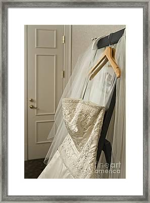 Wedding Dress Framed Print by Ned Frisk