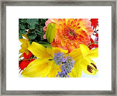Wedding Flowers Framed Print by Rory Sagner