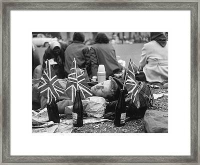 Wedding Morning Framed Print by Evening Standard