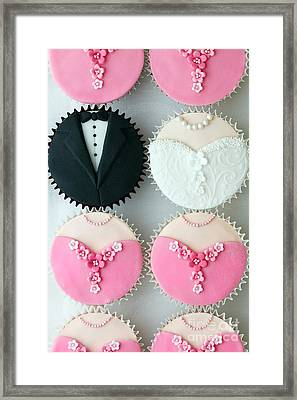 Wedding Party Cupcakes Framed Print