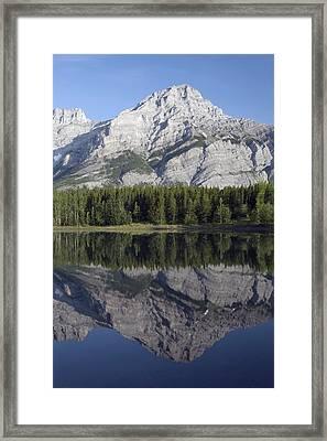 Wedge Pond, Mount Kidd, Kananskis Framed Print by Michael Interisano