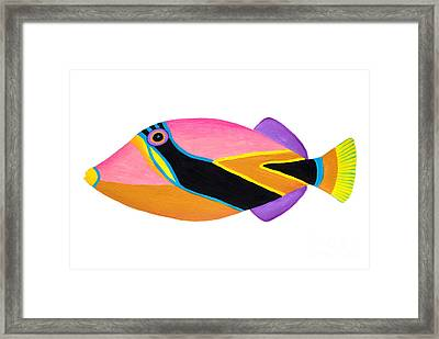 Wedge Tail Triggerfish  Framed Print by Opas Chotiphantawanon