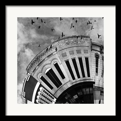 At Work Digital Art Framed Prints