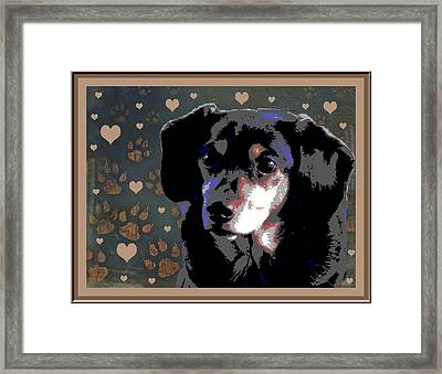 Wee With Love Framed Print by One Rude Dawg Orcutt