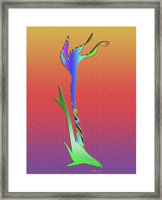 Framed Print featuring the digital art Weedy by Asok Mukhopadhyay