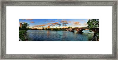 Weeks' Bridge Panorama Framed Print by Rick Berk