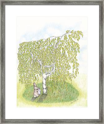Weeping Birch Framed Print by Elaine Read-Cole