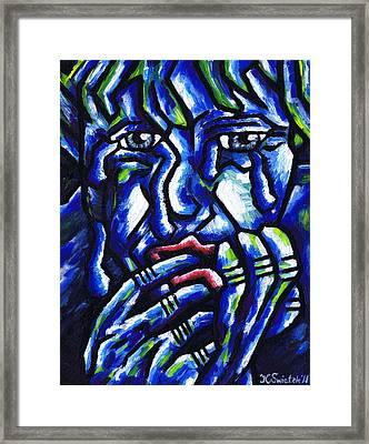Weeping Child Framed Print by Kamil Swiatek