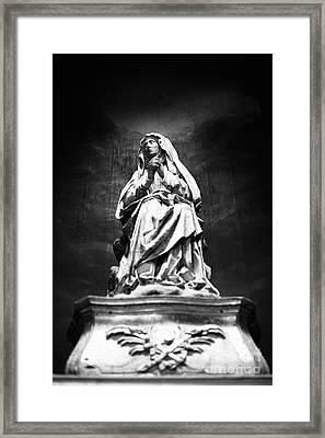 Weeping Madonna Framed Print by Gaspar Avila