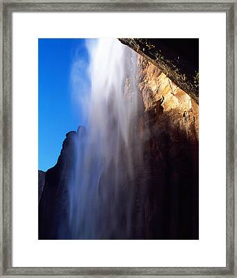 Weeping Rock Waterfall Framed Print