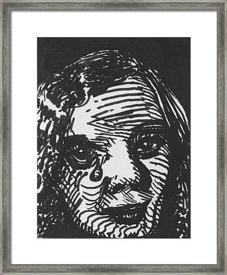 Weeping Woman Framed Print by Louis Gleason