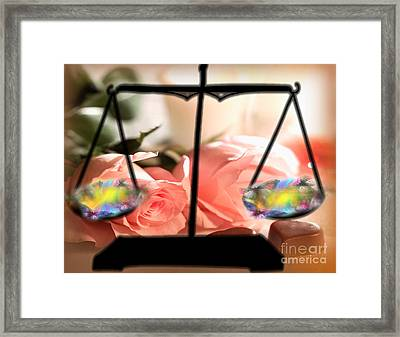 Weighing Beauty Framed Print