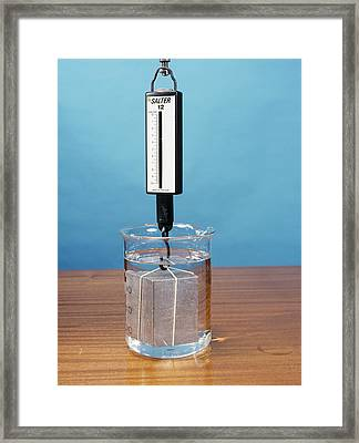 Weight In Air And Water, Image 2 Of 2 Framed Print by Andrew Lambert Photography