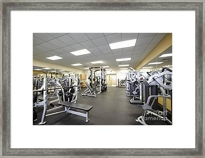 Weight Training Room Framed Print by Skip Nall
