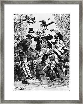 Weightlessness, 19th Century Framed Print